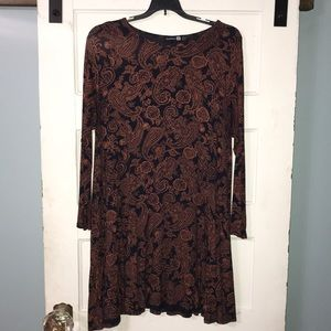 Boohoo long sleeve dress